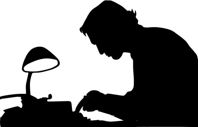 Escritor, Sombra, Homem