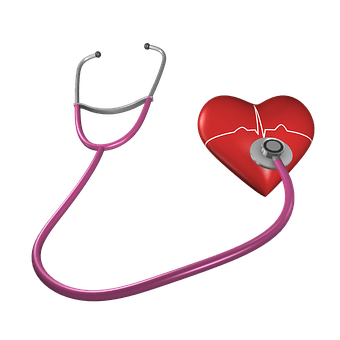 Heart, Shape, Stethoscope, Health Care