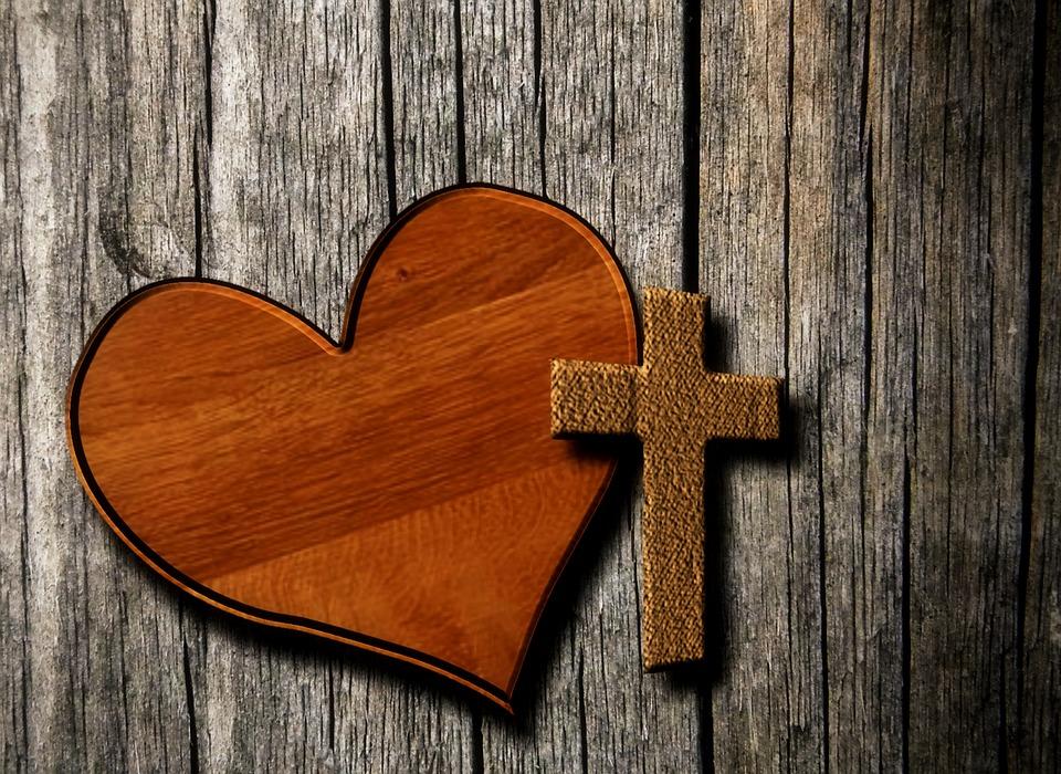 Free Illustration: Heart, Cross, Christianity, Faith