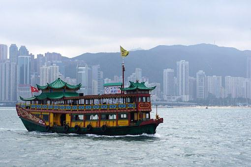 Hong Kong, Sea, Ship, City, Travel, Asia