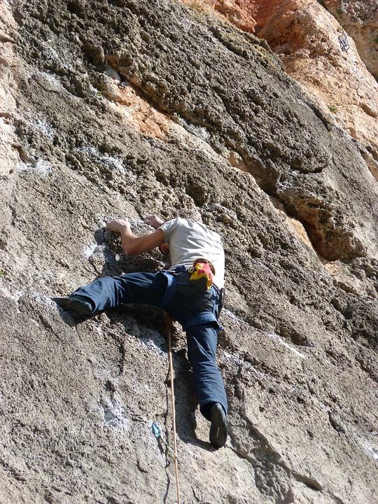 登山家, 岩の壁, シウラーナ, 努力, 挑戦, エスカレーション