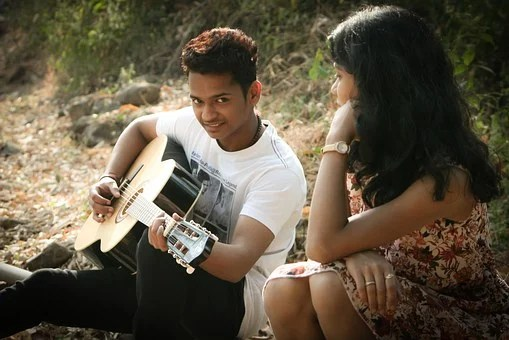 Romantic, Singing, Guitar, Love, Music