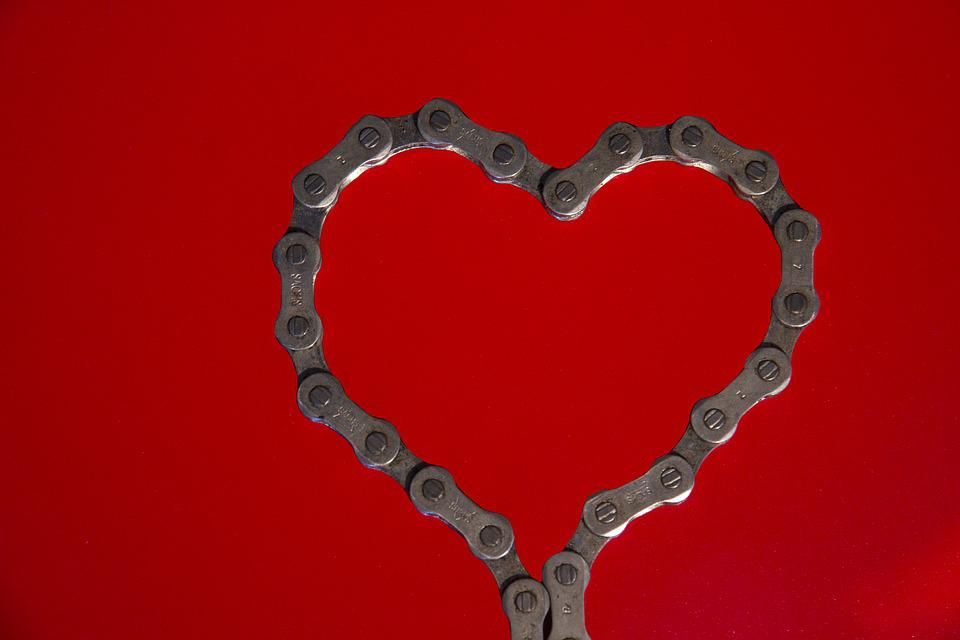 Free Photo Heart ValentineS Day Bike Chain Free