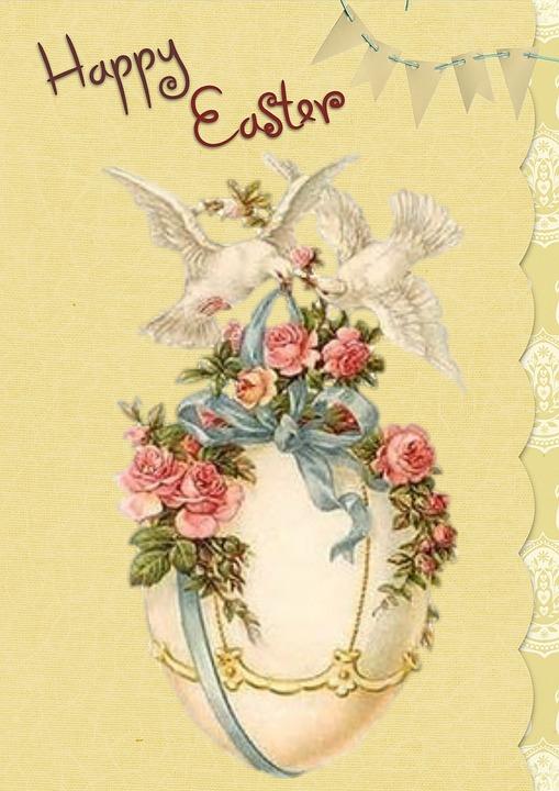 Free Illustration Easter Greeting Card Vintage Free