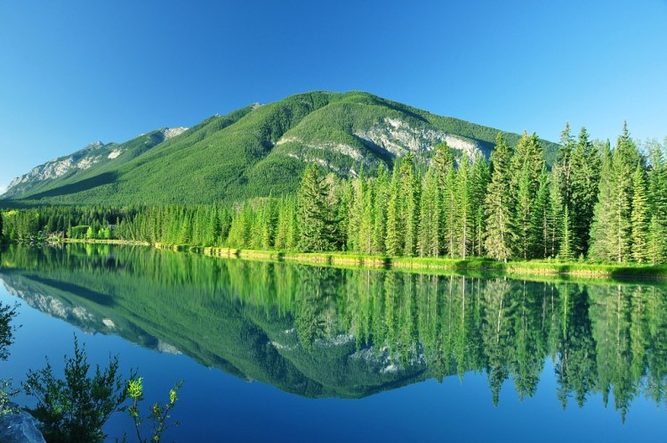 Banff, National, Park, A, Canada, Landscape, Alberta