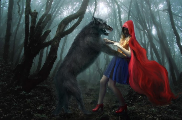 Free Illustration Little Red Riding Hood Wolf Free