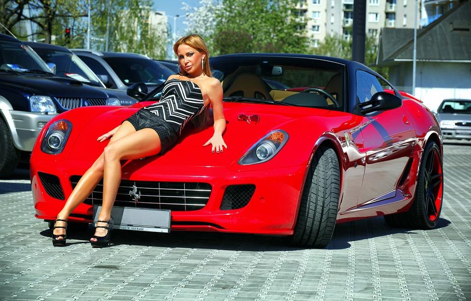 Auto Ferrari Mdchen Kostenloses Foto Auf Pixabay
