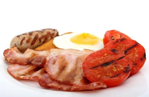 Bacon, Pane, Prima Colazione, Alla Griglia, Brown, dieta chetogenica,, grassi buoni