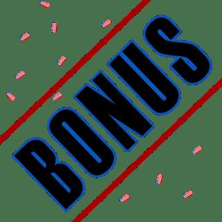 bonus with confetti flags