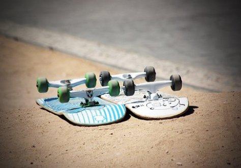 Skate, Esporte, Adolescentes, Juntos