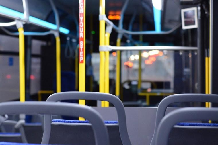 Bussi, Sisällä, Tyhjä, City, Kuljetus, Liikenne