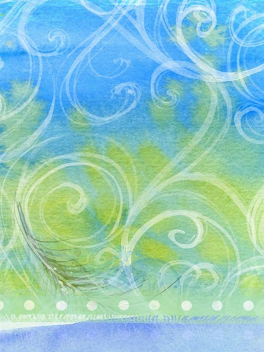 Free Illustration Background Abstract Swirls Green