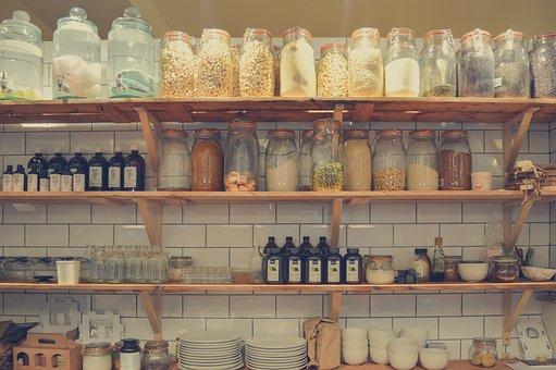 Shelf, Container, Rack, Food, Shelves