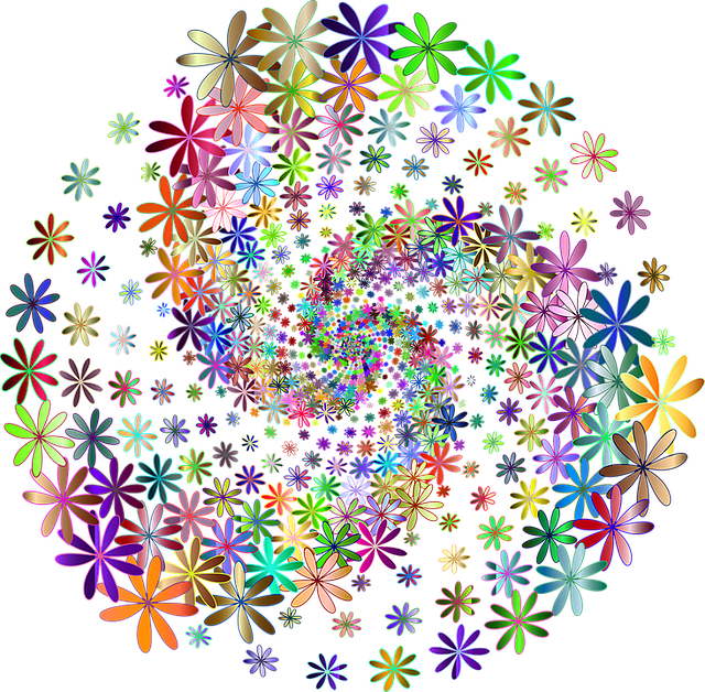 Floral Flowers Colorful Free Vector Graphic On Pixabay