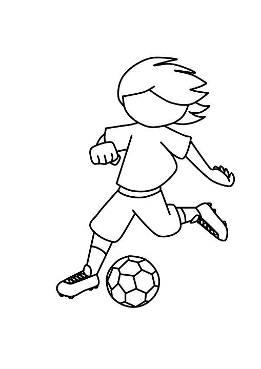 Kostenlose Illustration Junge Fuball Spielen Kinder