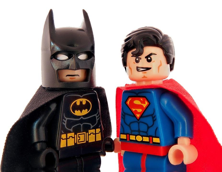 バットマン, スーパーマン, レゴ, スーパー ヒーロー, ヒーロー, 高速, 強力な, スーパー, 岬