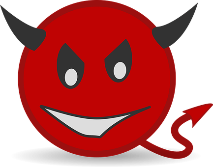 Devil, Icons, Matt, Smiley, Symbol