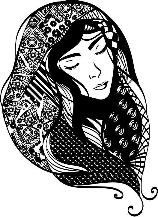 Free Vector Graphic Art Fashion Female Head Scarf