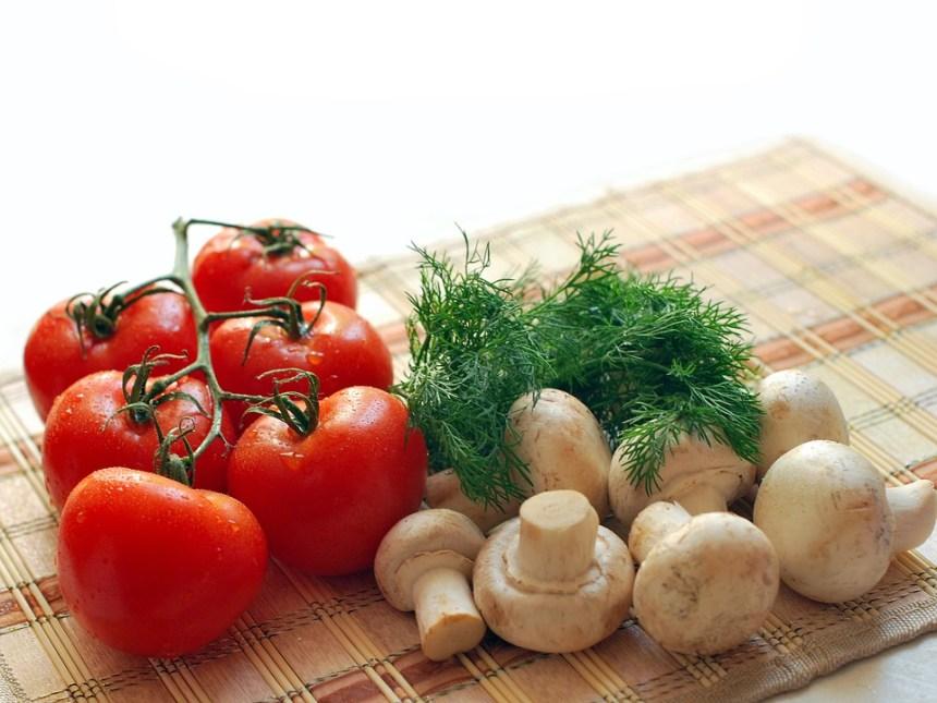 Funghi, Pomodori, Verdi, Nutrizione, Saporito