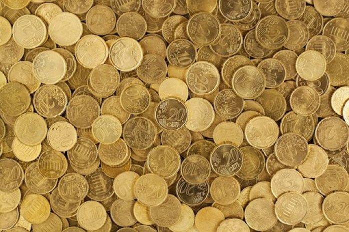 Euro, Monety, Waluty, Pieniądze, Żółty