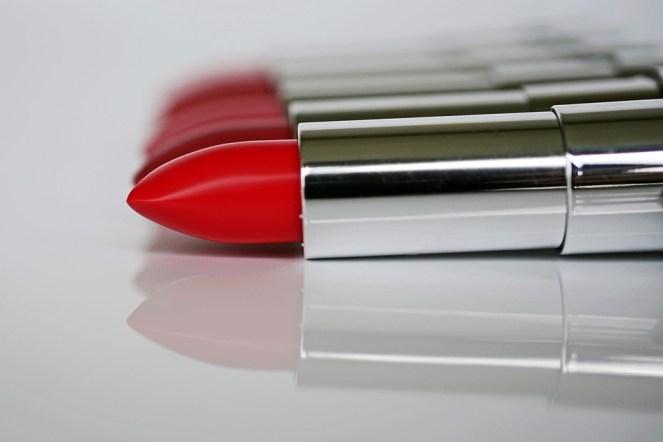 Batom, cosméticos, lábios, maquiagem, beijo boca, vermelho