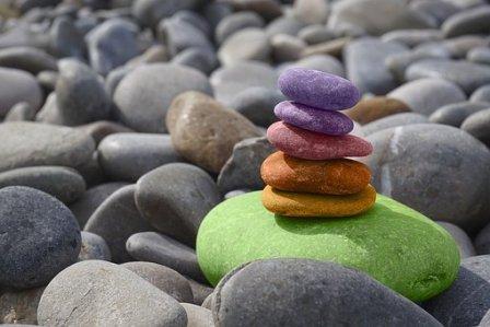 Balance, Stones, Meditation, Zen, Chakra Balancing, Rainbow