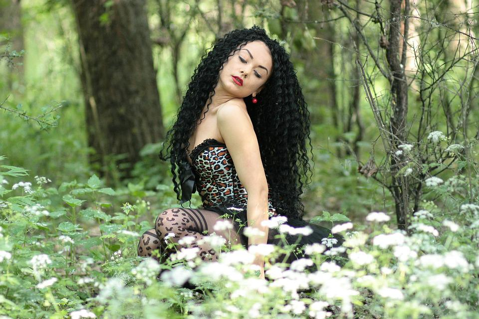 Free Photo Girl Wild Forest Green Sensual Free