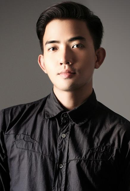 Free Photo Face MenS Asia Shirts Blacj Free Image