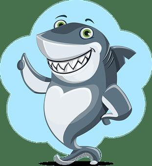 サメ, 動物, 文字, かわいい, 海, 水中, 青, 水, 野生動物, 自然