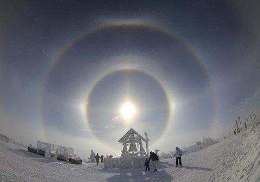 ハロー, Eisnebelhalo, 天体現象, 太陽の渦巻き, エルツ山地