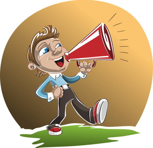 Loudspeaker, Man, Boy, Holding, Speaking, Speaker