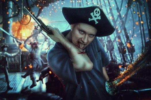 Pirata, Nave, Sangue, Imbarco, Pistole, Pistola, Spada