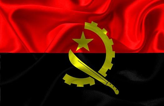 Flag, Angola, Angola Flag, Red, Black