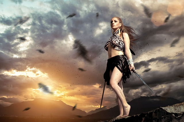 Free Photo Warrior Woman Female Sunset Free Image On