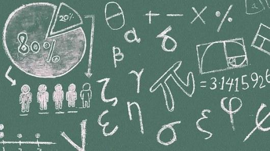 Math Symboles Tableau Noir Salle De Classe