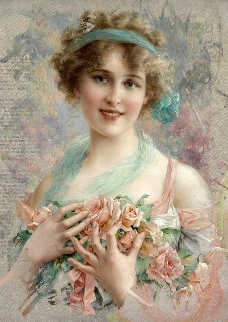 Vintage Woman Art Free Image On Pixabay