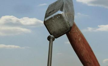 Hammer, Nail, Sky, Diy, Clouds, Metal