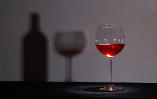 ガラス, ワイン, 影, ワインのガラス, メガネ, ワイングラス, 透明