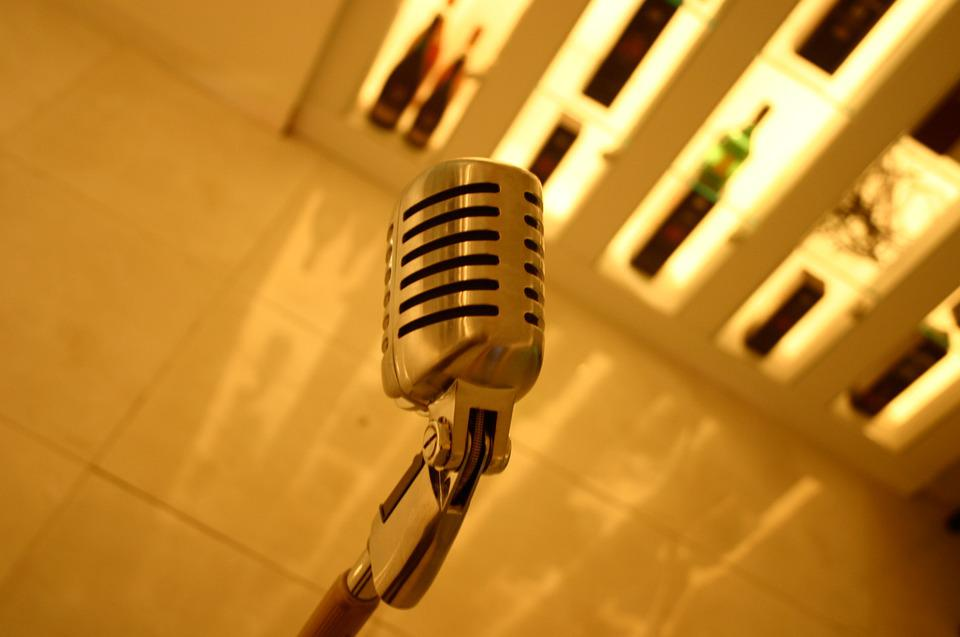 Microphone, Mike, Yellow, Karaoke, Interior