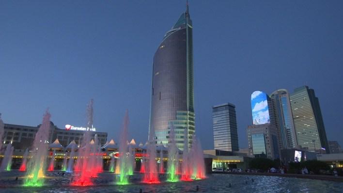 Cazaquistão, Almaty, Cidade, Noite, Viagens, Cazaque