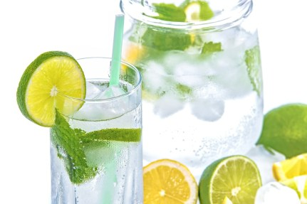 Mineral Water, Lime, Mint, Glass, Drink, Cold, Fresh