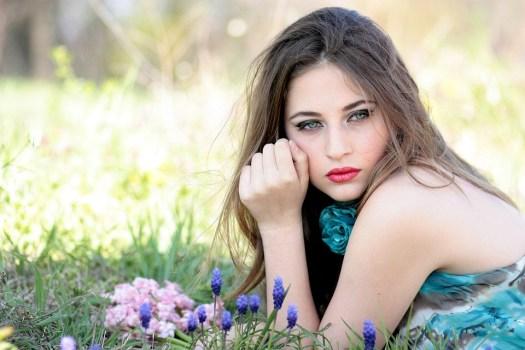 Ragazza, Fiori, Natura, Bellezza, Primavera