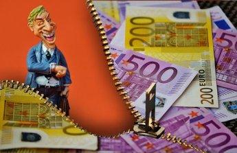 Zeit Ist Geld, Geschäftsmann, Euro Kreditanfrage erfolgreich stellen.