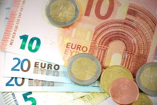 Euro, Pieniądze, Waluta, Europejski, Tło