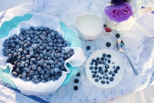 Mirtilli, Dessert, Prima Colazione, Cibo, Bacca, Frutta