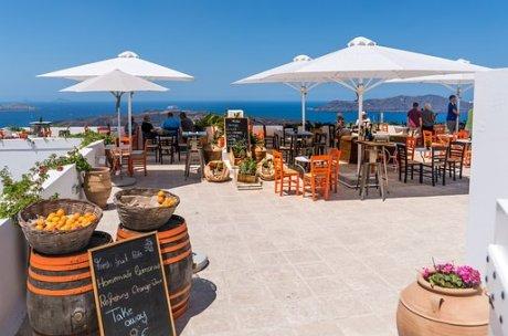 Santorini, Oia, Ristorante, Vista