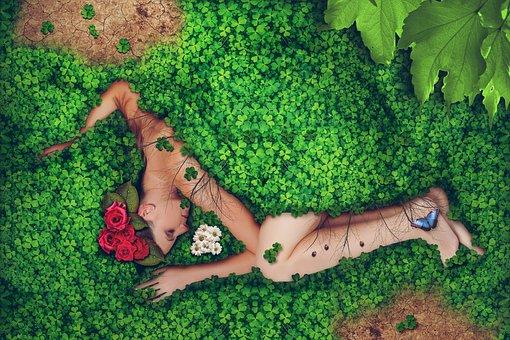Woman, Nature, Environment, Young