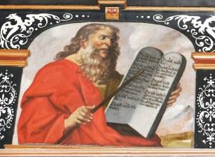 イメージ, 教会, 歴史的に, 考えています, キリスト教, 聖書, Moses, 法律, 入札, モーセ