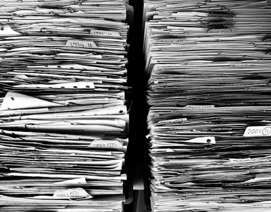 Fichiers, Papier, Bureau, Formalités Administratives