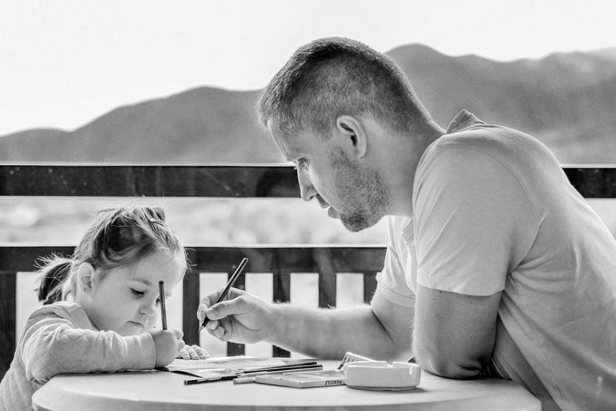 Girl, Father, Portrait, Family, Fatherhood, Parent